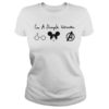 A simple woman who love Harry Potter Disney and Avengers lady shirt