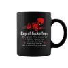Deadpool cup of fuckoffee one splash of no one cares a dash of kiss my arse mug