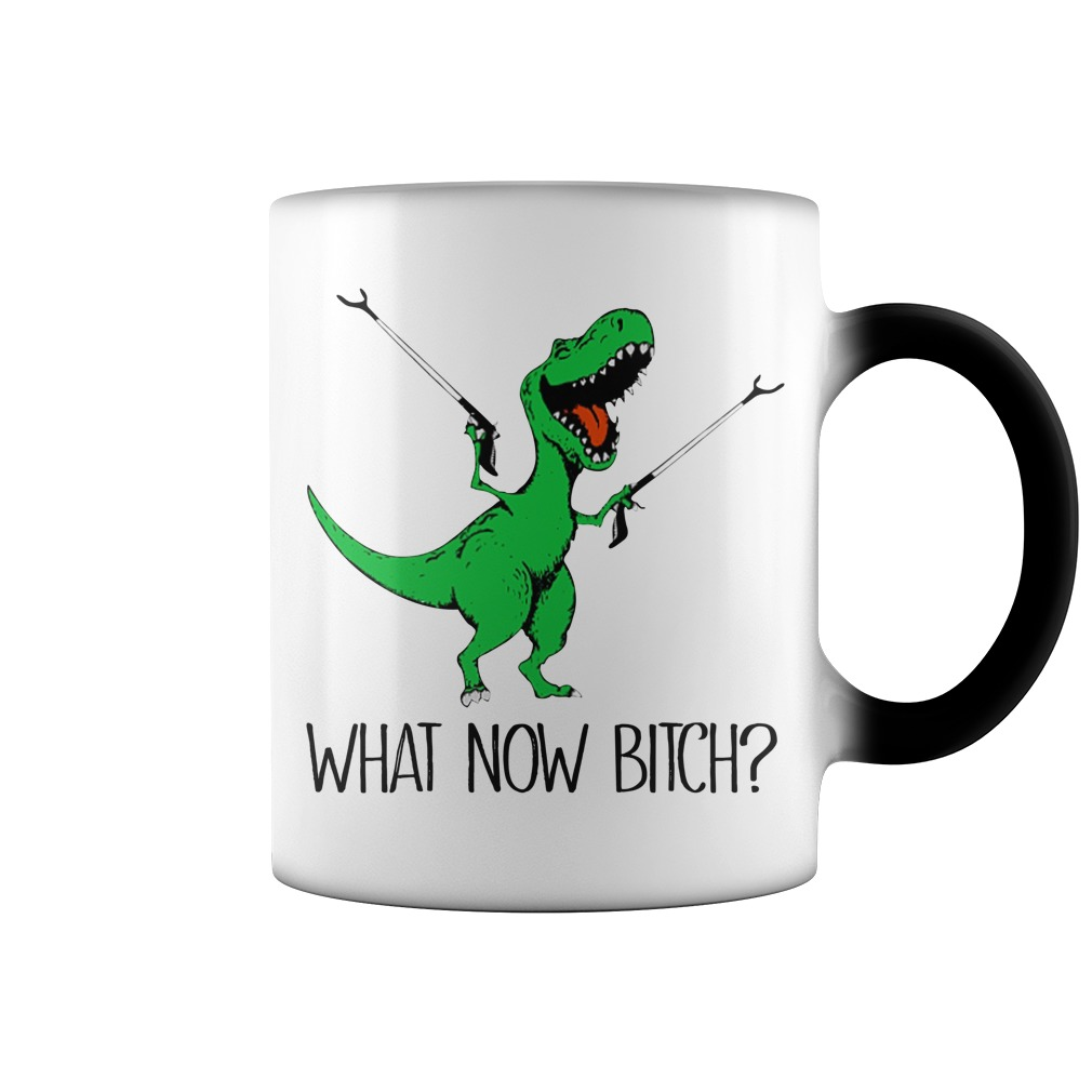 Dinosaur what now bitch color change mug