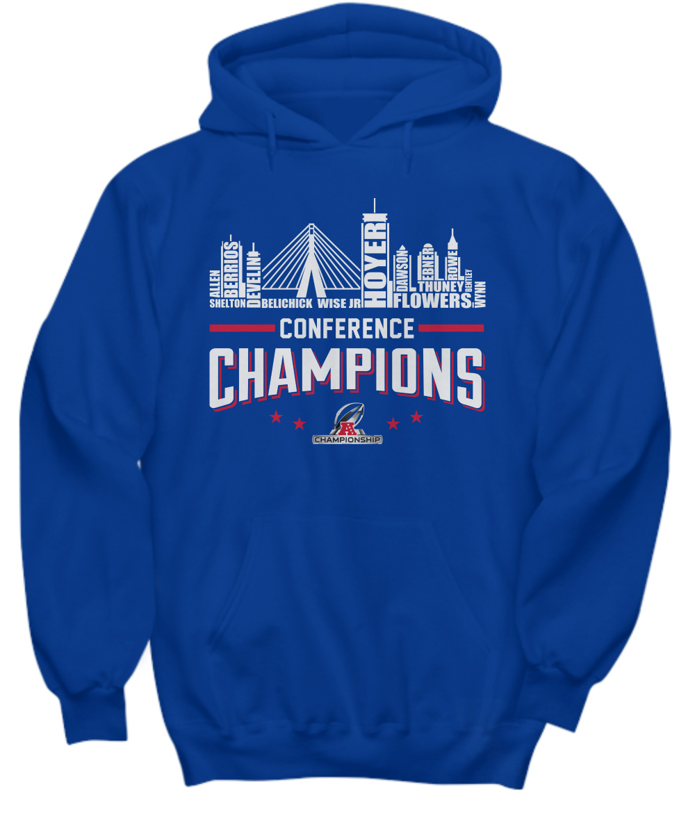 New England Patriots roster conference champions hoodie