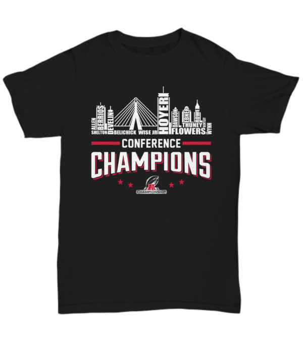 New England Patriots roster conference champions unisex shirt