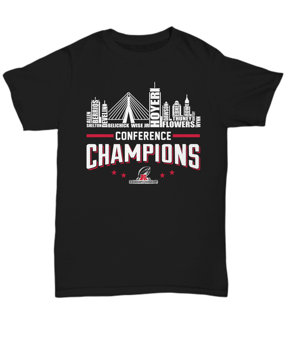 purchase cheap 93007 6e3f7 New England Patriots roster conference champions shirt, hoodie, sweatshirt