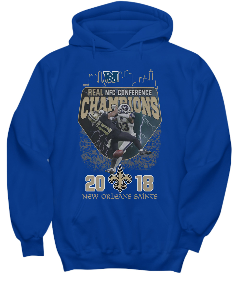 Real NFC conference champions New Orleans Saints 2018 hoodie
