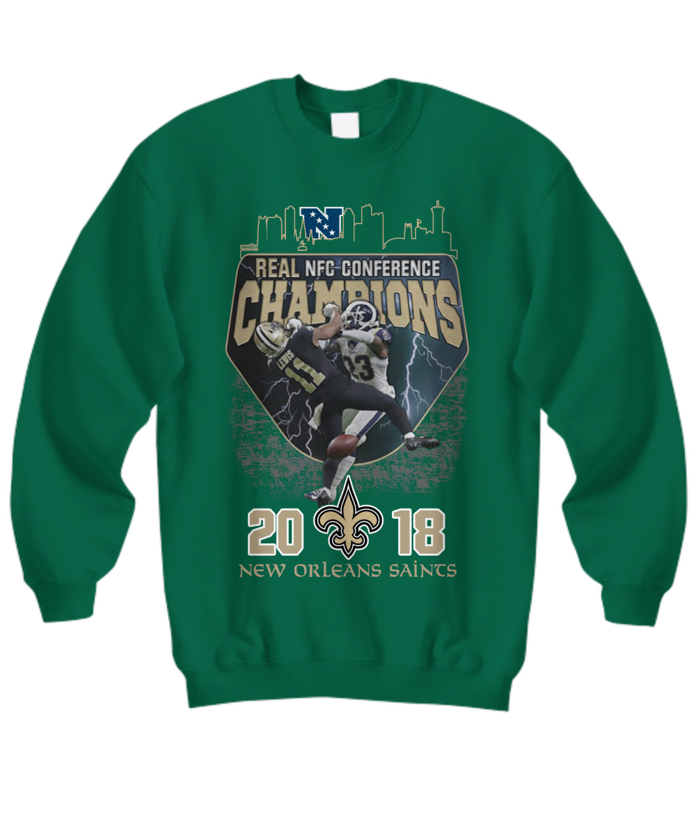 Real NFC conference champions New Orleans Saints 2018 sweatshirt