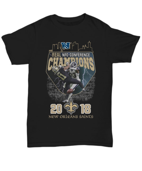 Real NFC conference champions New Orleans Saints 2018 unisex shirt