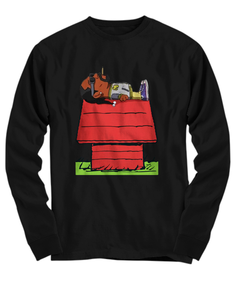 Snoop Dogg smoke weed on Snoopy's house long sleeve