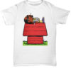 Snoop Dogg smoke weed on Snoopy's house shirt