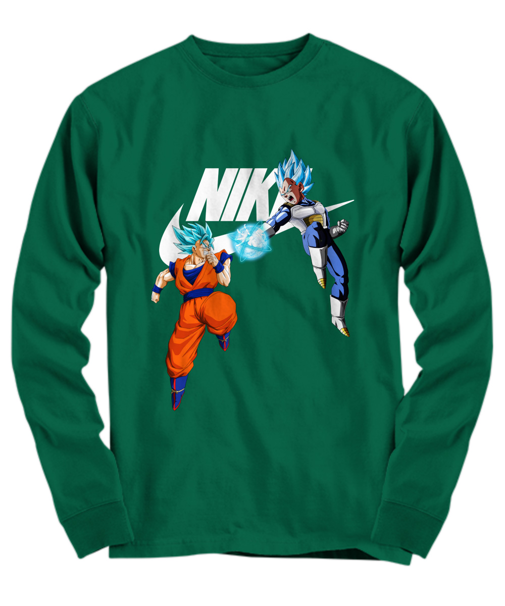 Goku Vegeta Super Saiyan Blue Nike long sleeve