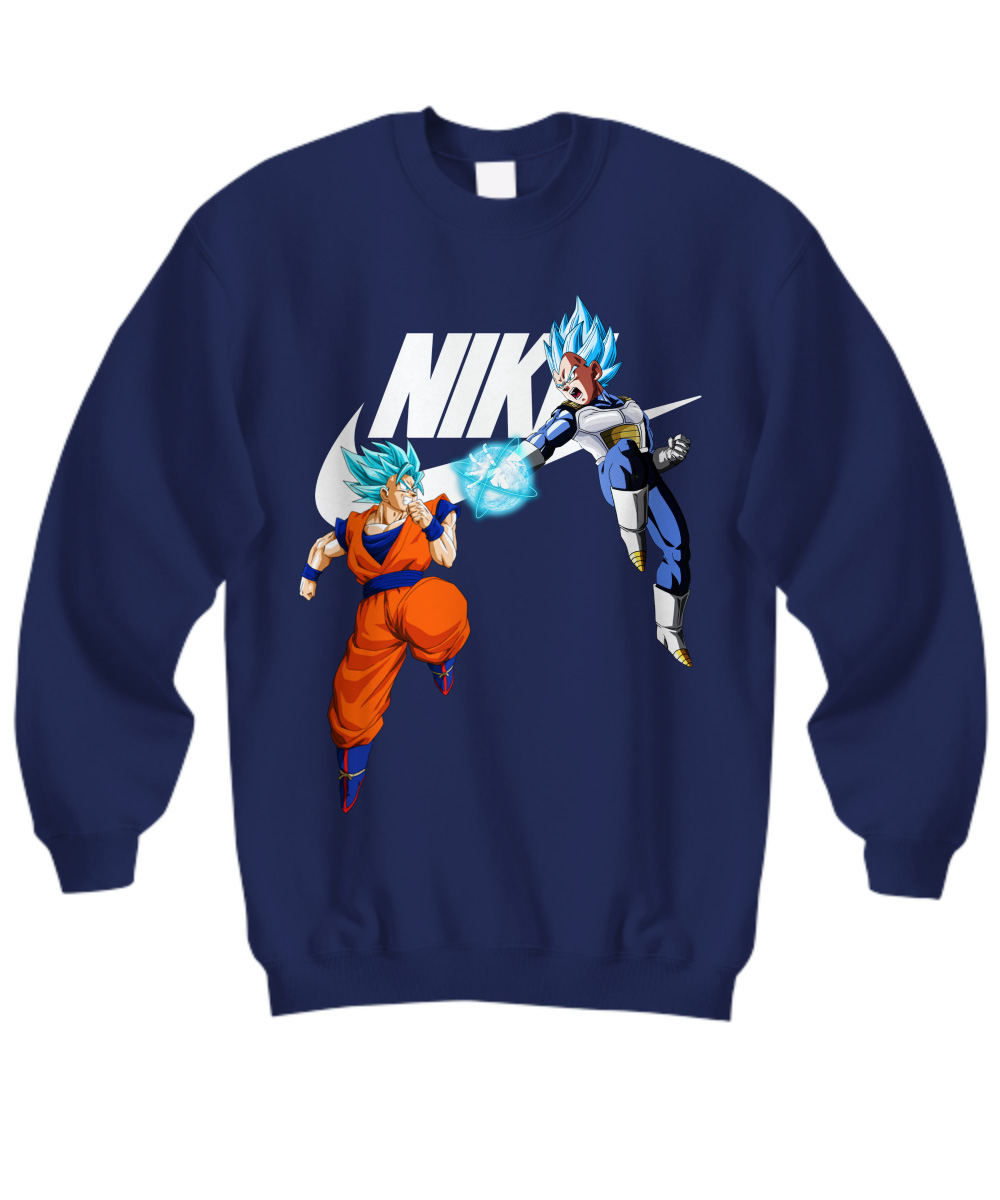 Goku Vegeta Super Saiyan Blue Nike sweatshirt