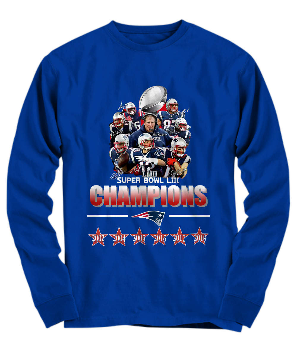 New England Patriots super bowl LIII champions 2019 long sleeve