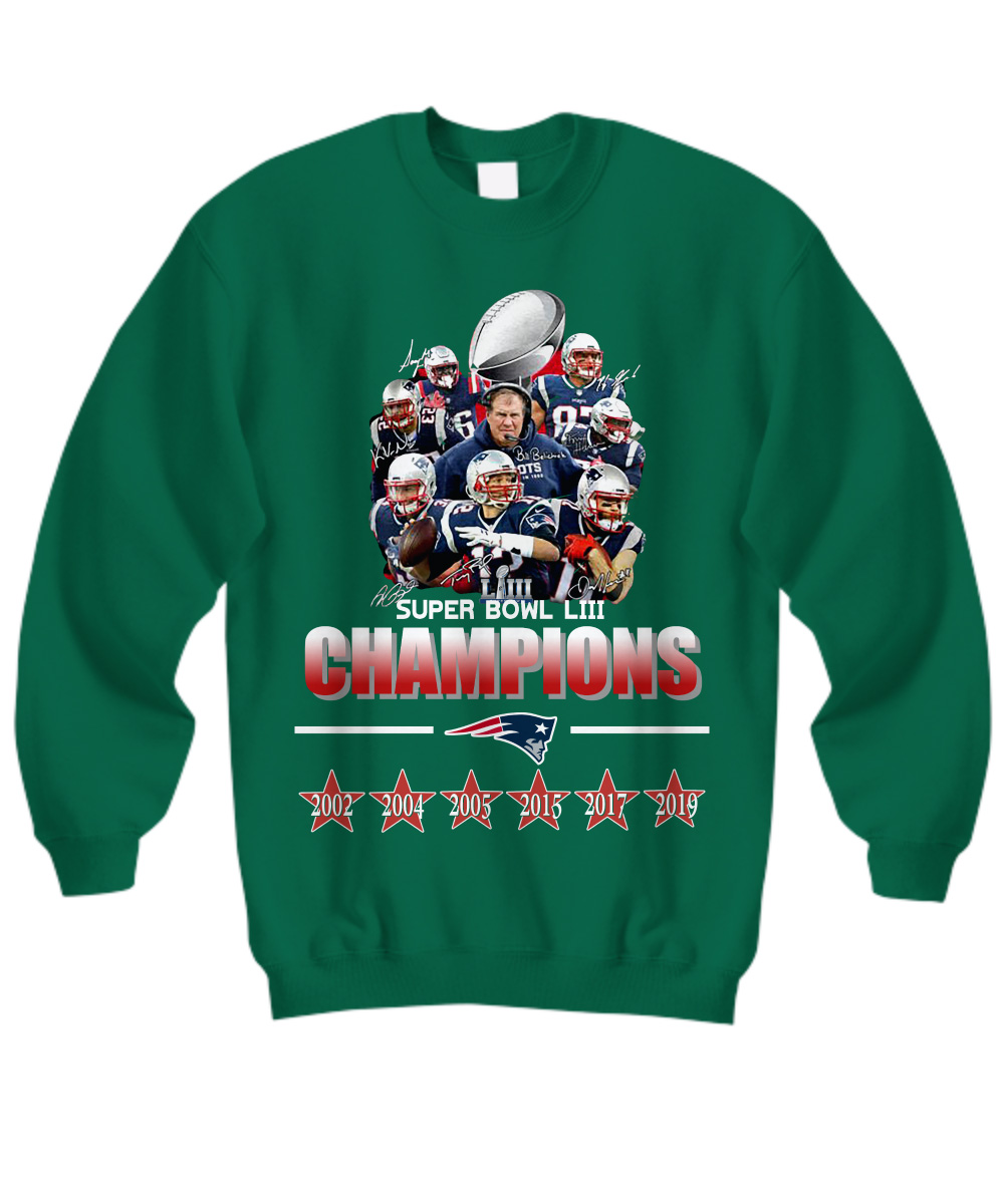 New England Patriots super bowl LIII champions 2019 sweatshirt