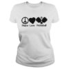 Peace love pickleball lady shirt