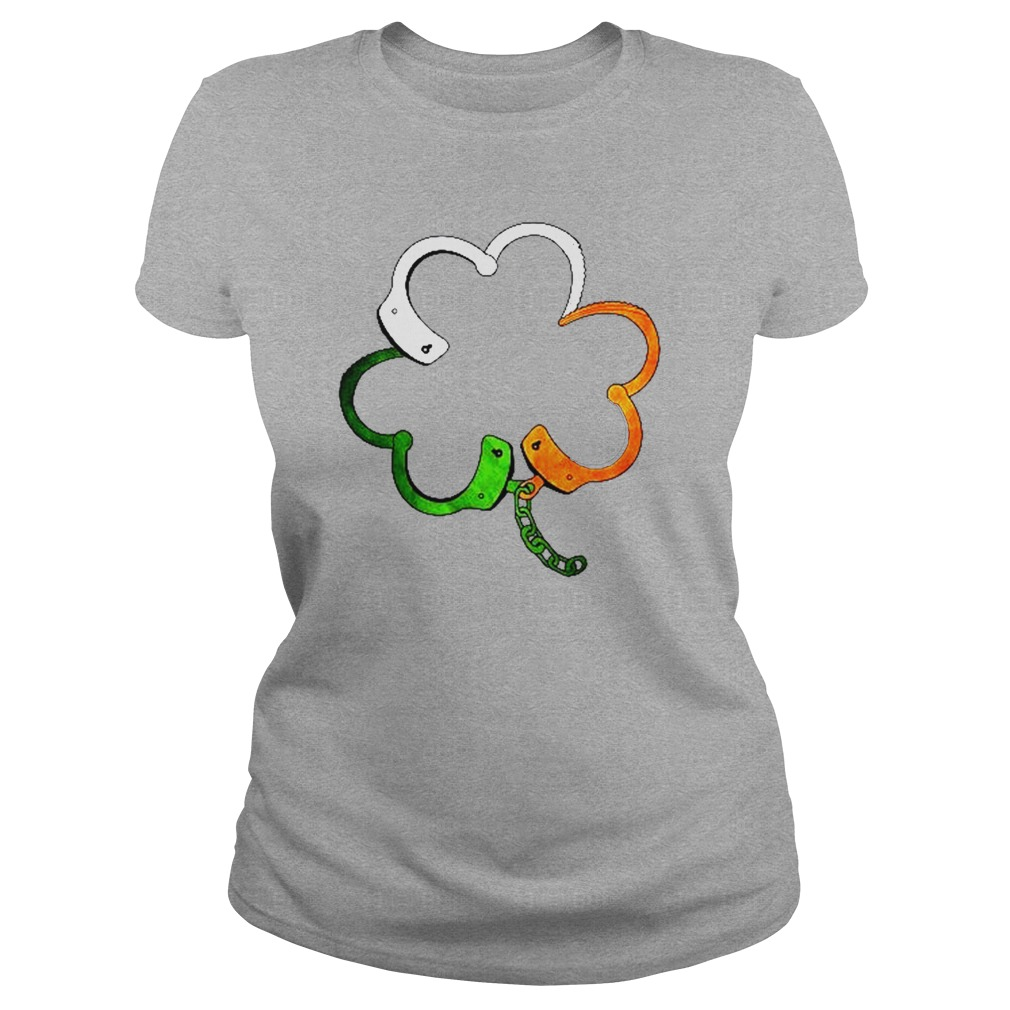 Shamrock police Saint Patrick's day lady shirt