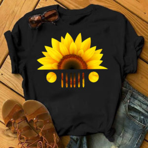 Sunflower head jeep car shirt