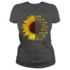Sunflower rose goes in glass vases perfect bodies perfect faces lady shirt