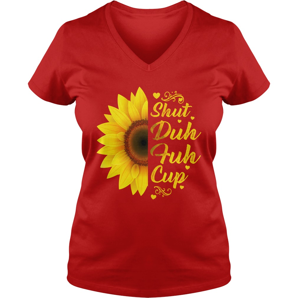 Sunflower shut duh fuh cup lady v-neck