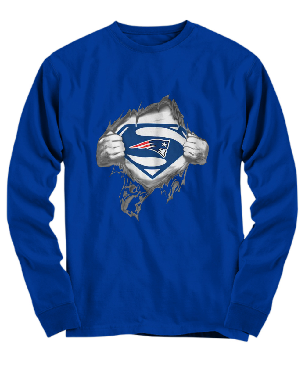 Superman New England Patriots long sleeve