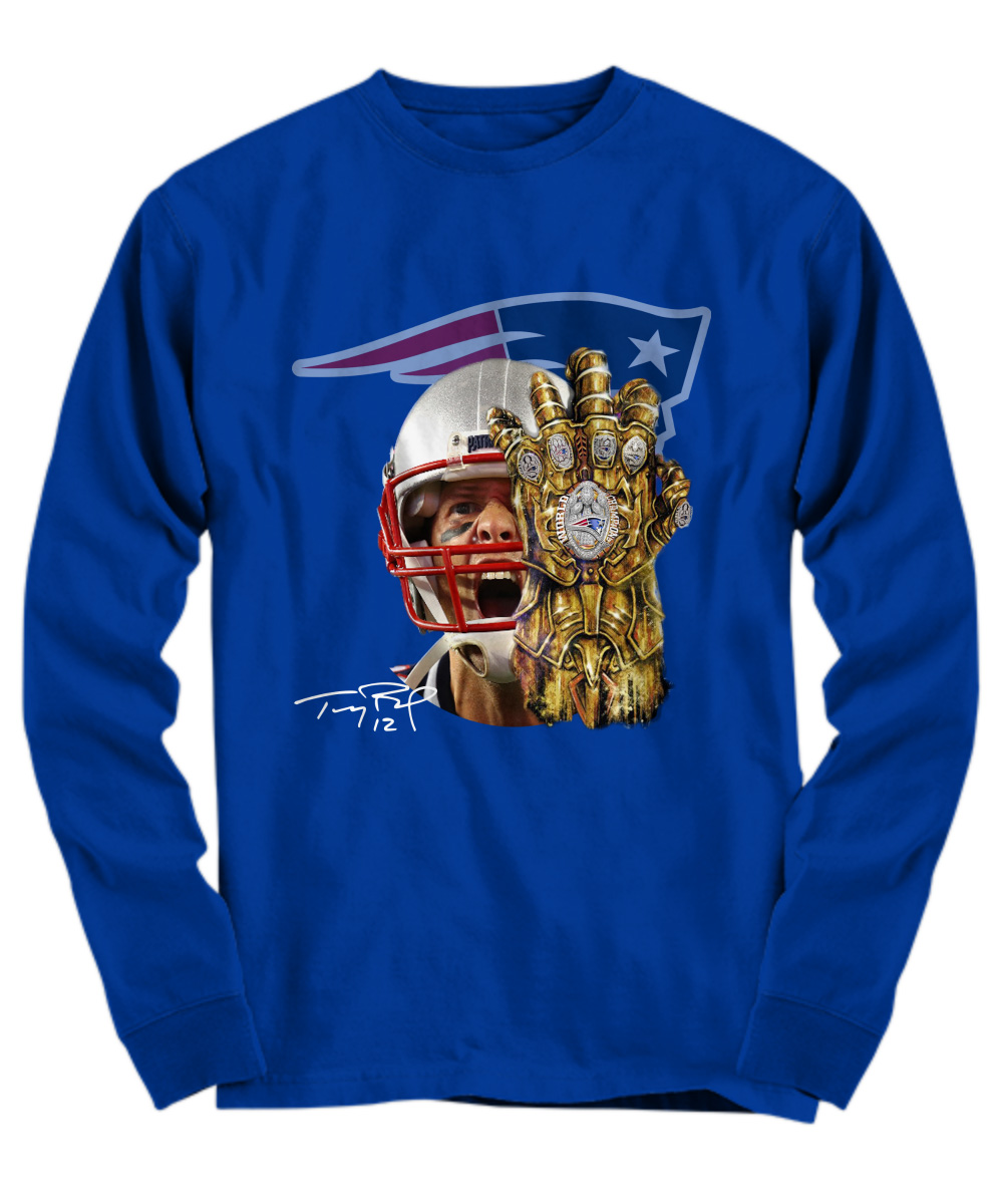 Tom Brady Infinity Gauntlet Patriot long sleeve