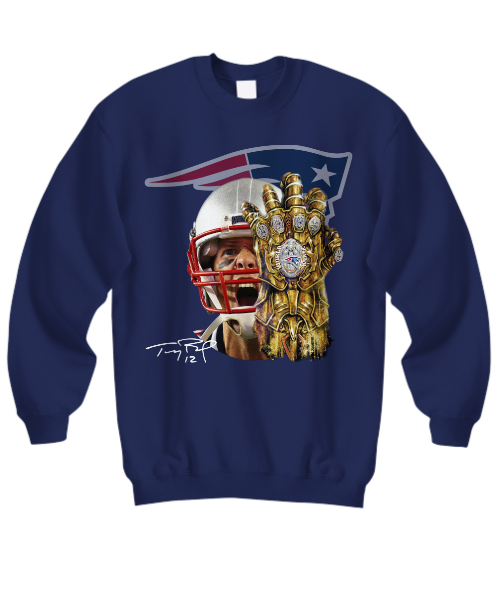 Tom Brady Infinity Gauntlet Patriot sweatshirt