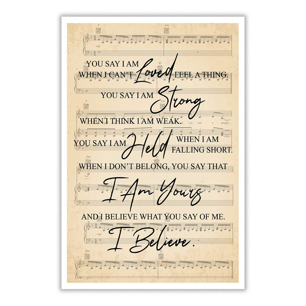 You say by Lauren Daigle poster