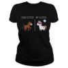 Your sister my sister unicorn disco lady shirt