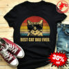 Best cat dad ever vintage cat wear glass shirt