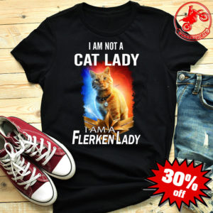Captain Marvel Goose I am not a cat lady I am a flerken lady shirt