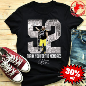 Clay Matthews III thank you for the memories shirt