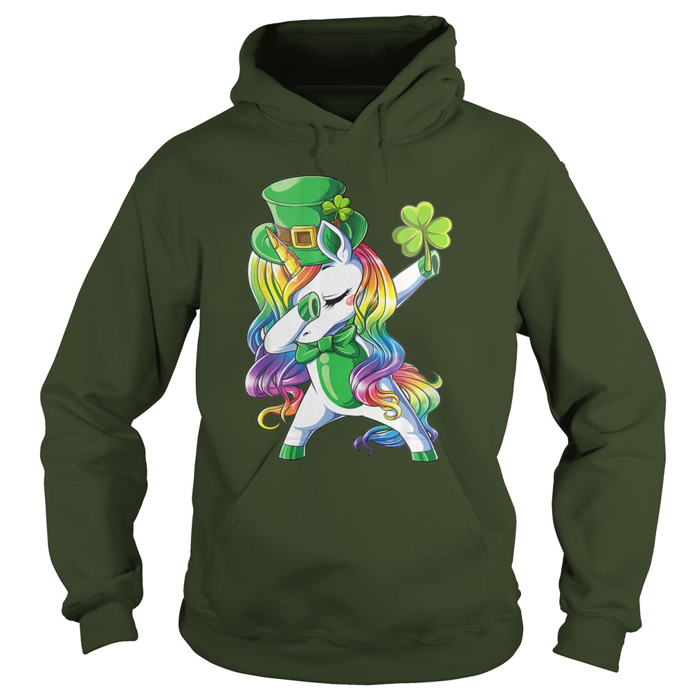 Dabbing Leprecorn Irish Unicorn hoodie