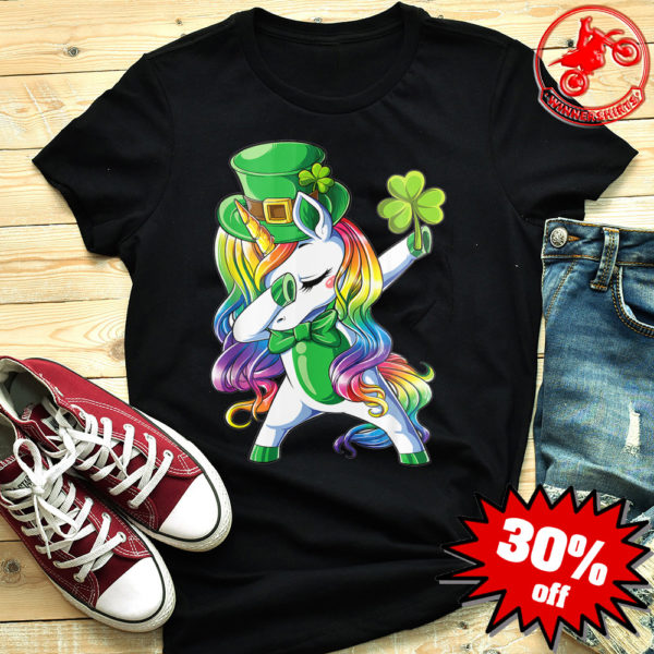 Dabbing Leprecorn Irish Unicorn shirt