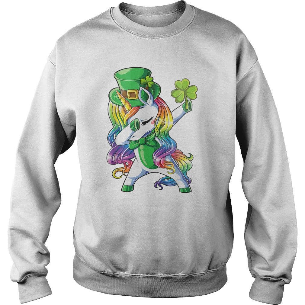 Dabbing Leprecorn Irish Unicorn sweatshirt