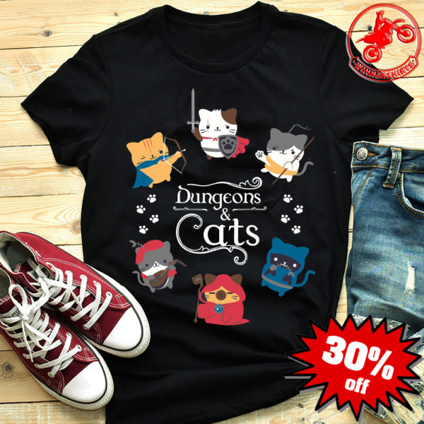 Dungeons Cats Dungeons and Dragons shirt