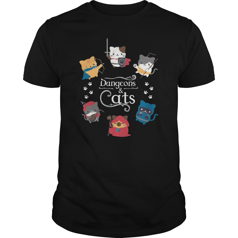 Dungeons Cats Dungeons and Dragons unisex shirt