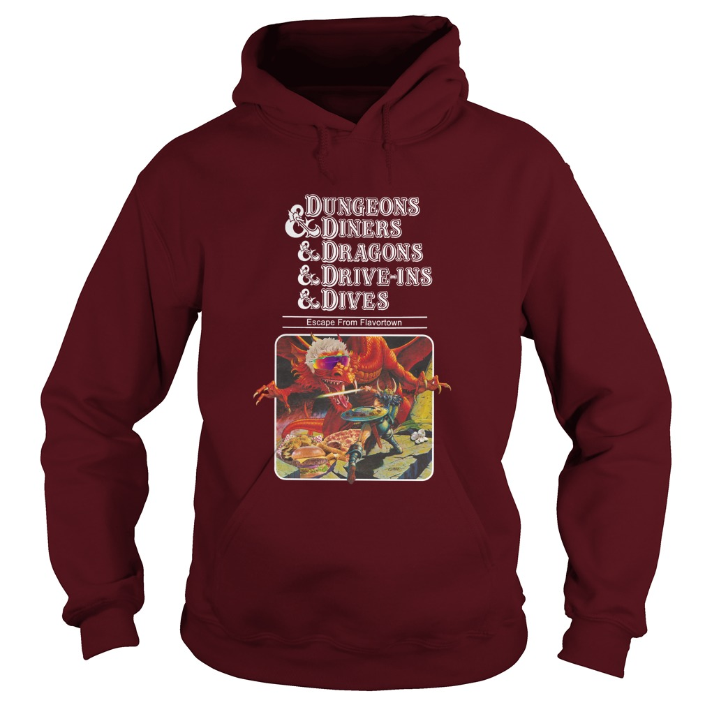 Escape from Flavortown dungeons and diners hoodie