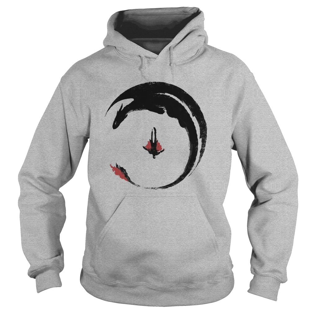 Hiccup And Toothless Flying Watercolor Art hoodie