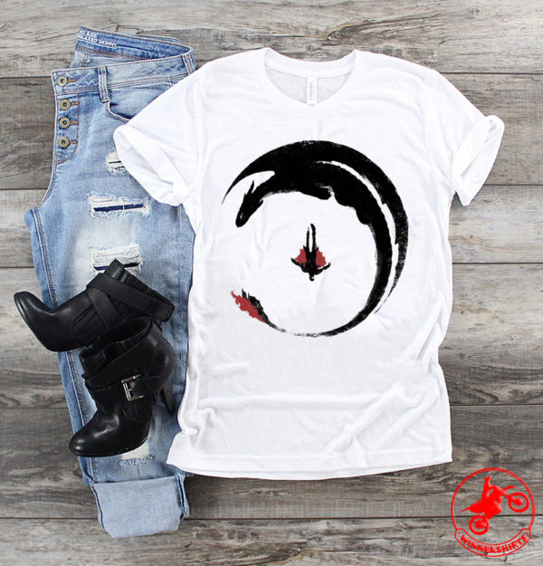 Hiccup And Toothless Flying Watercolor Art shirt