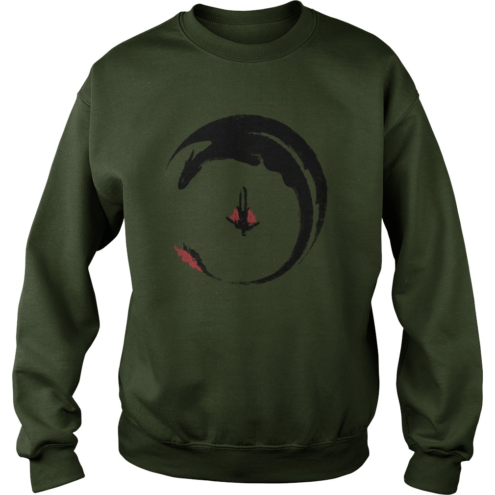 Hiccup And Toothless Flying Watercolor Art sweatshirt
