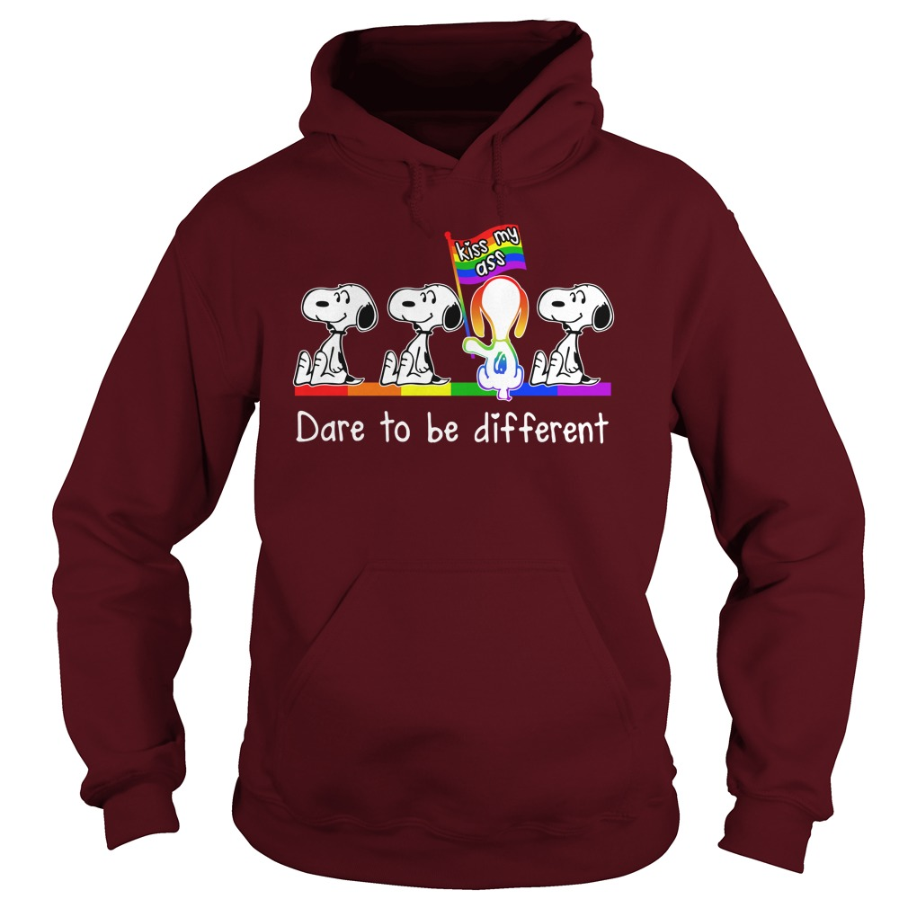 LGBT snoopy kiss my ass dare to be different hoodie