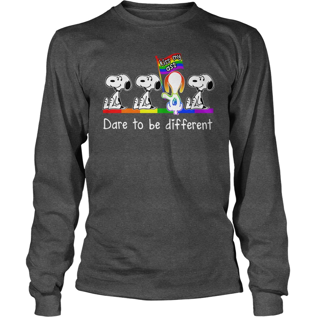 LGBT snoopy kiss my ass dare to be different long sleeve