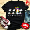 LGBT snoopy kiss my ass dare to be different shirt