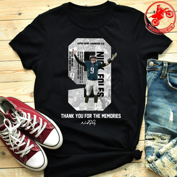 Nick Foles Eagles Thank you for the memories signature shirt