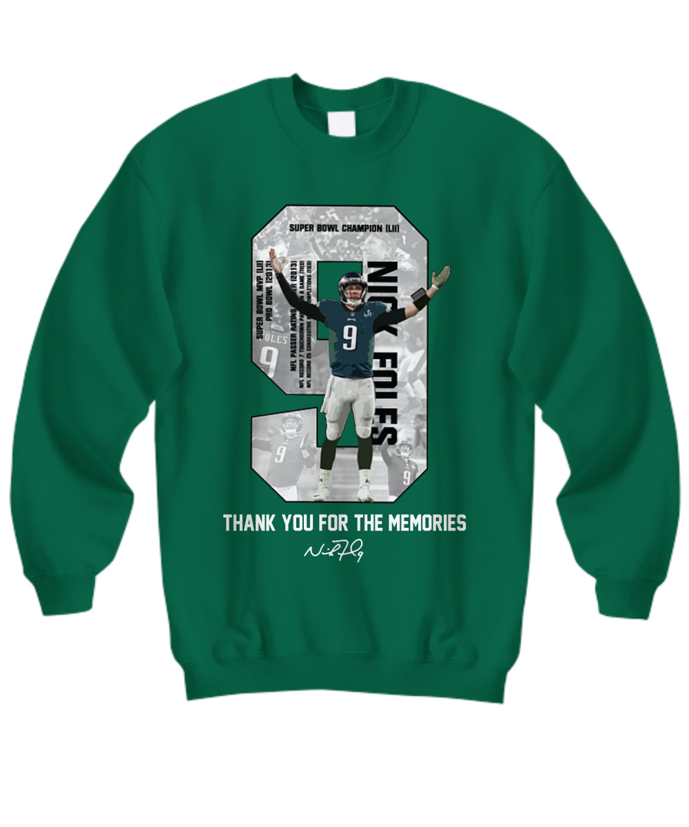 Nick Foles Eagles Thank you for the memories signature sweatshirt