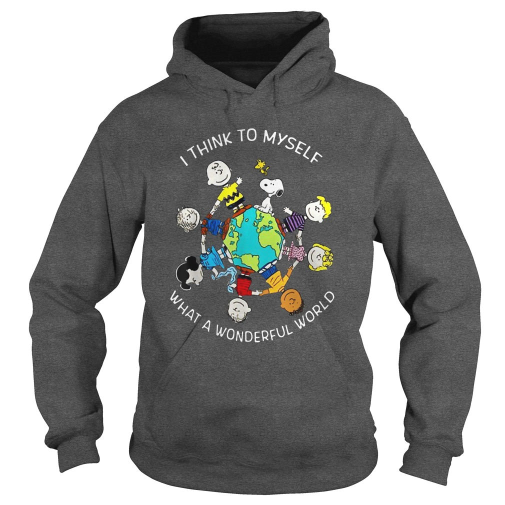Peanuts and friends I think to myself what a wonderful world hoodie