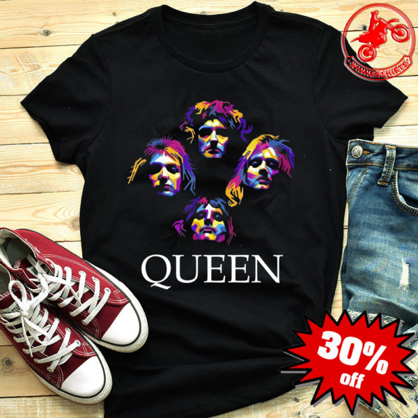 Queen band color pop art shirt