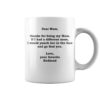 Redhead dear mom thank you so much for being my mom mug