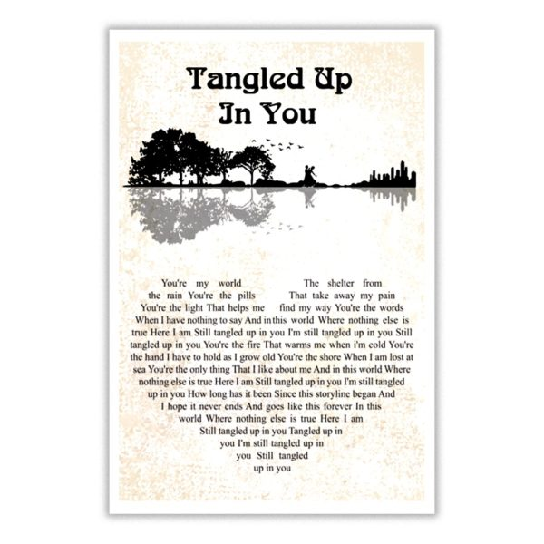 Tangled up in you you're my world the shelter from the rain poster