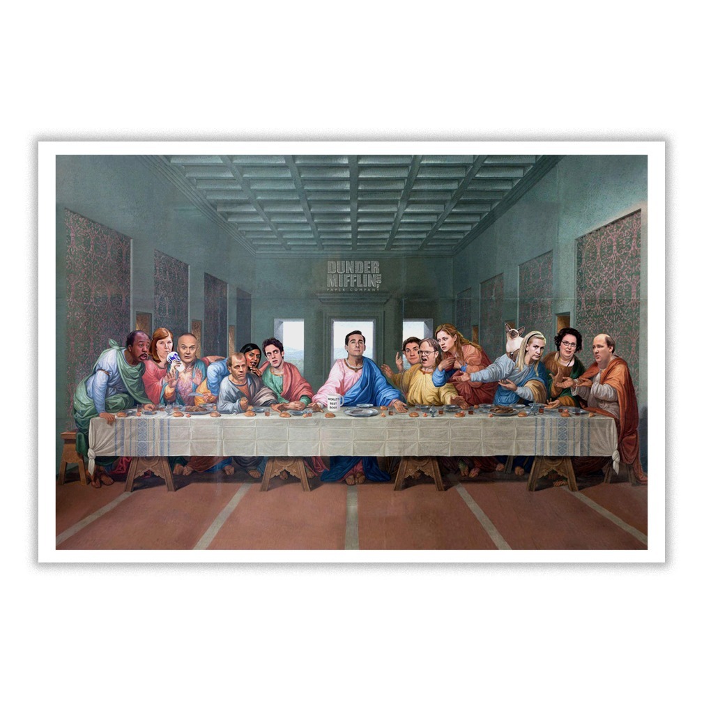 The Office The Last Supper at Dunder Mifflin small poster