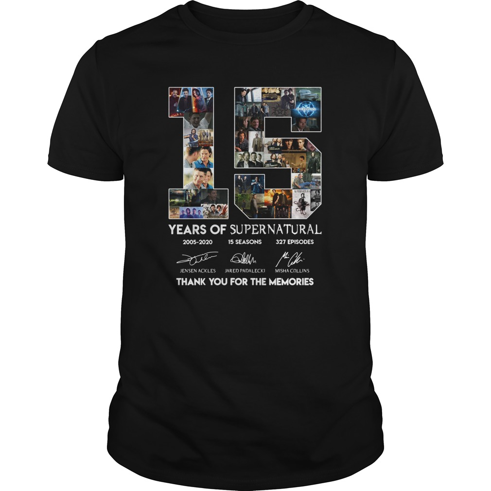 15 years of Supernatural 2005-2020 thank you for the memories unisex shirt