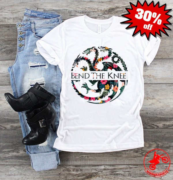 Bend The Knee Game Of Thrones Logo Tropical Flower Shirt