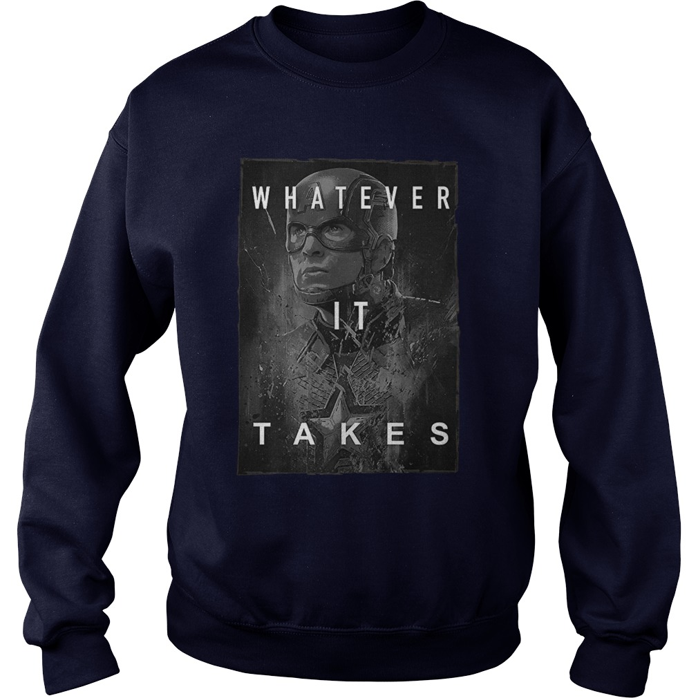 Captain America Whatever It Takes sweatshirt